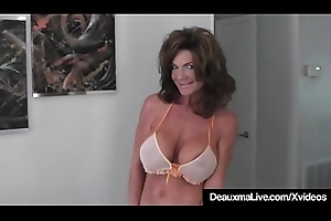 Hot Cougar Deauxma Squirts A Puddle After Sextoy Banging Cunt