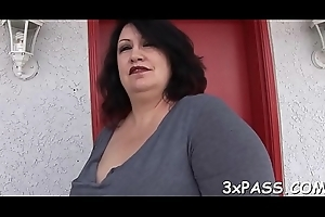 Gaffer bbw bitch screwed perfectly be proper of her holes hard by euphonic rod