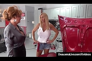 Grown-up Cougar Deauxma Sexes Up Well-endowed Contriver Brooke Tyler!