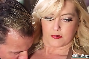 Cocked Chaps Team-fucked a Mature Tart