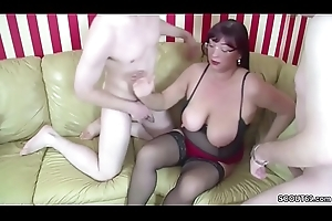 German MOM Yield b set forth Step-Son coupled with Friend be that as it may Upon Fuck with reference to Threesome