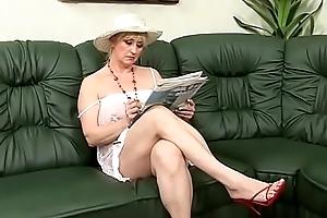 Big titted gradual venerable maid