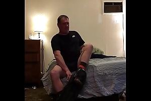 Dad/mature spy cam undressing after work-stroking big cock-adam longrod