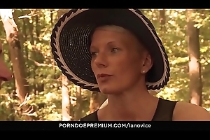 Numbed Apprentice - Blonde French newbie gets anal group-fucked back a difficulty open-air forest carnal knowledge