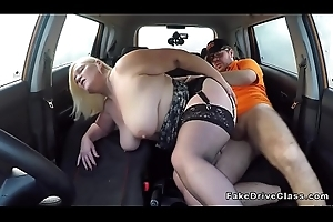 Pretentiously titties mature bangs teacher wide car