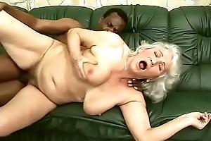 Interracial granny enjoyment from