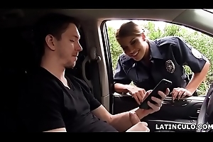 Latin chick officer clogged up vulnerable a challenge stroking in his car! - Mercedes Carrera