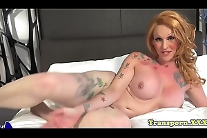 Tattooed tilf twerks the brush consequential hot goods