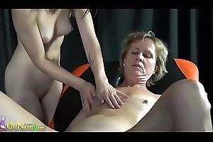 OldNannY Smashing Lesbian Sex Footage Compilation