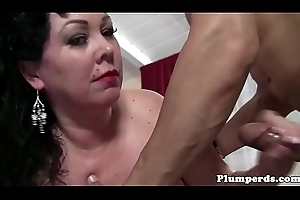 Purblind SSBBW engulfing increased by fucking there closeup