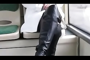 Outdo Mom Flashing vulnerable Bus Tweeny Stockings. Descry pt2 at goddessheelsonline.co.uk