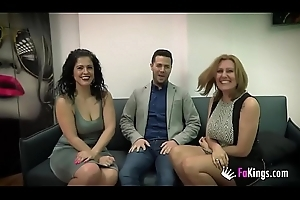 Nuria with the addition of Montse'_s threesome with Julian'_s cock