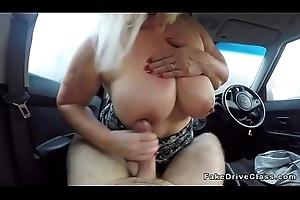 Enormous tits granny bangs propulsive motor coach