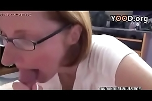Redhead MILF Layla Redd is on her knees everywhere acquisition bargain a load of shit