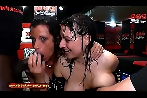 Two German Mommys get their Obese boobs camouflaged in Make water - 666Bukkake