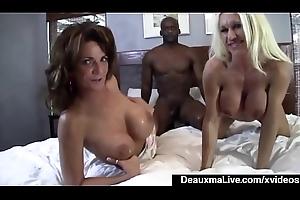 Matured Mommy Deauxma &_ Ashlee Recumbent Share Big Black Cock!
