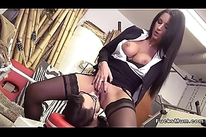 Humongous tits Milf banging added to squirting
