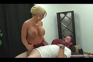 Teacher Tries To Ameliorate His Lower Grades Stroking Cock