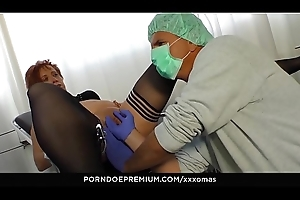 XXX OMAS - German 40 redhead Cosette acquires screwed at the end of one's tether horny doctor