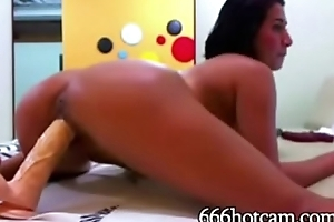 XXX Gloominess Rides Dildo and Fisting on Livecam - 666hotcam.com