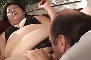 BBW Granny Receives Her Heavy Bawdy cleft Stuffed