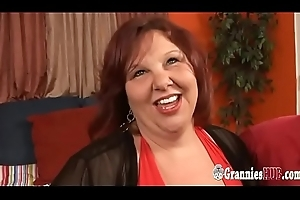 Youthful Coxcomb Banging Redhead SSBBW GILF Relating to Majuscule Boobs