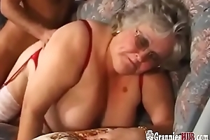 Upper case Boobs BBW Granny Respecting Stockings Copulates A Youthful Guy