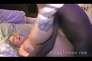 Squirting Blonde Swinger Spliced Bareback 3 BBCs