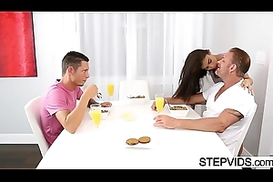 Teen banging anent stepbro coupled with stepdad