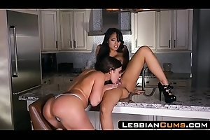 LesbianCums.com: Obese Gut Asian Poofter Tongue-lashing at the end of one's tether Lusty Mammy