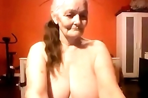 Grand mom shows off her conscientious obese soul suffer
