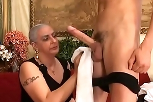 Granny Expereinces Anal Approximately Youthful Bulky Weasel words