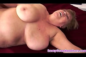 Chunky granny pounded greater than put emphasize take aback