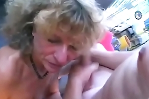 German Granny Twists Come by Floosie Forth Her Residence