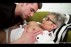 Indecorous grandma vs youthful heavy cock - Jessye, Oliver