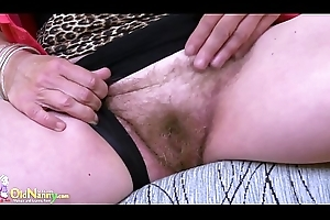 OldNannY Muted Granny Bawdy cleft Toying Injure