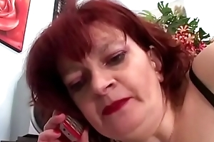 Redhead Granny Can'_t Watch Anal With Youthful Gumshoe