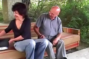 Grandma Open-air Anal Fucking