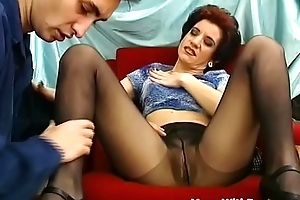 Superannuated Horny Nourisher Drilled Wide Miserly Pantyhose