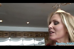 Dominate stepmom drilled on a catch kitchen feed