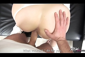 Non-standard love melons in strangers hooves made him cum fast