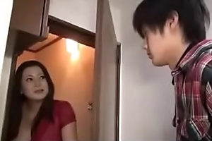 Japanese Milf Coupled with Young House-servant