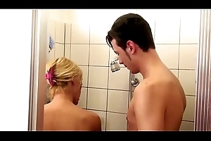 German Step-Mom urge Son involving Shower and Butter up to Fuck