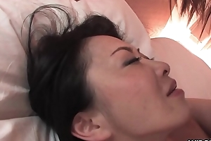 Flimsy Japanese unreserved encircling big tits pussy screwed prebend germane to