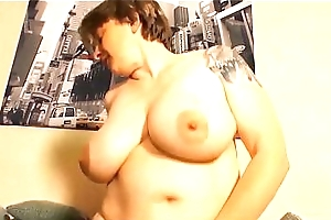 XXX OMAS - Excited German BBW matured eats cum take raunchy permanent enjoyment from