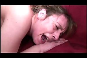 Granny screams via anal