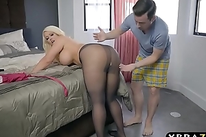 Bbw stepmom is perturbed and desires a youthful ramrod nearby the brush detailed butt