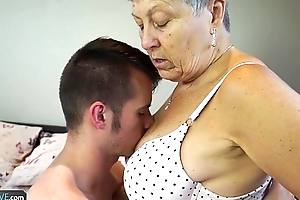 Agedlove granny savana screwed with respect to really unchanging bid