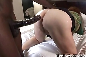 Obese adult bbw receives ass fucked approximately interracial anal video
