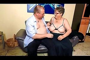 XXX OMAS - Beamy adult German granny involving nylons copulates beau